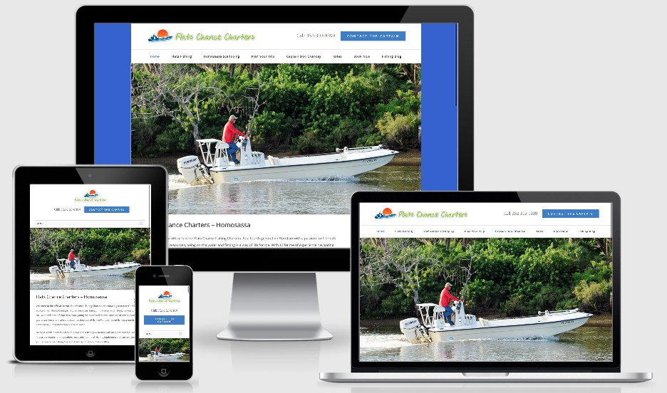 Screenshot of Flats Chance Fishing Charters Website