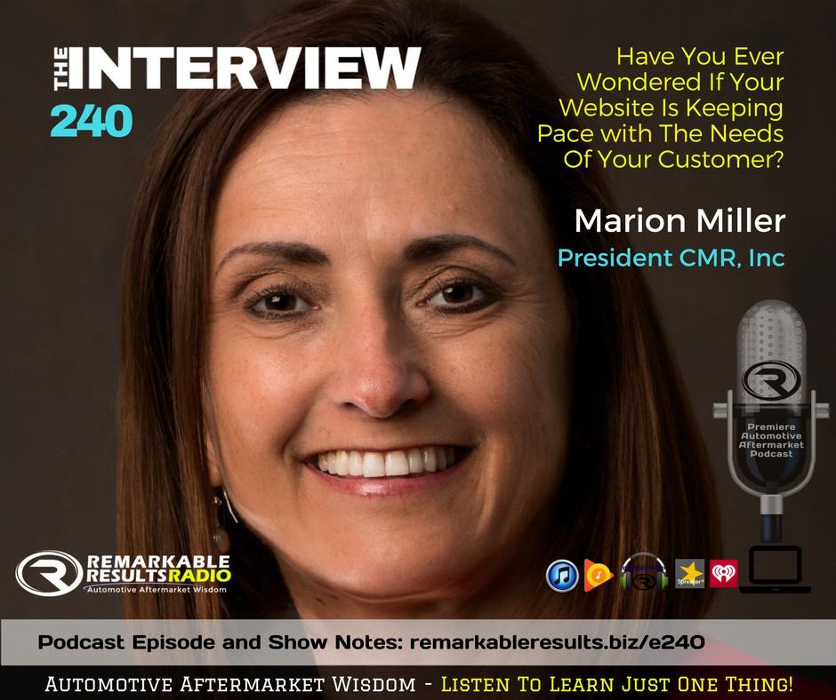Podcast thumbnail: Marion Miller